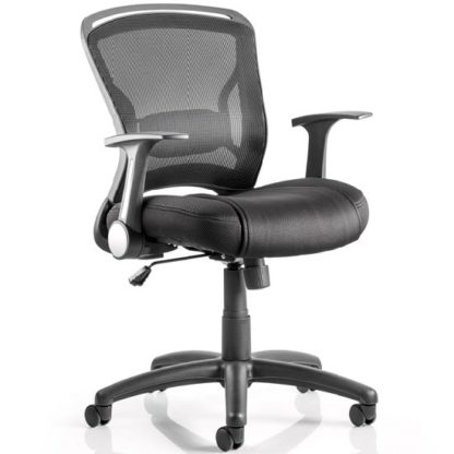 An Image of Mendes Contemporary Office Chair In Black With Castors