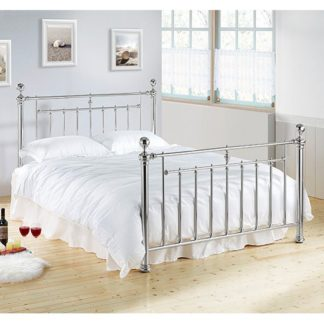 An Image of Alexander Metal Double Bed In Chrome