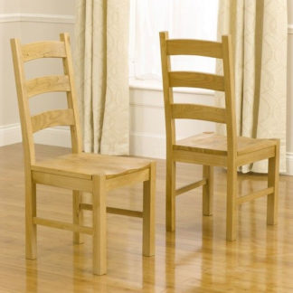 An Image of Segin Timber Dining Chairs In Pair