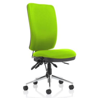 An Image of Chiro High Back Office Chair In Myrrh Green No Arms