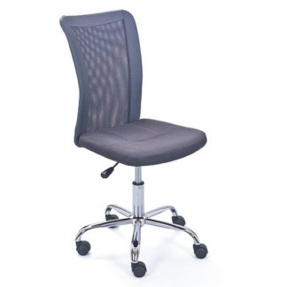 An Image of Bonnie Children Office Chair In Grey PU With Mesh Back