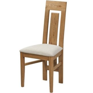 An Image of Capre Wooden Dining Chairs In Rustic Oak Finish