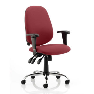 An Image of Lisbon Office Chair In Ginseng Chilli With Arms