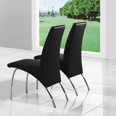 An Image of Renee Full Dining Chairs In Black
