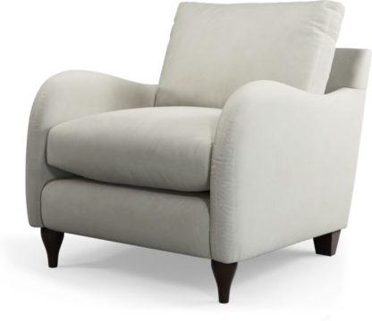 An Image of Custom MADE Sofia Armchair, Plush Silver Velvet