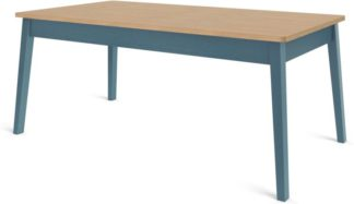An Image of Custom MADE Harrison Shaker 8 Seat Dining Table, Oak and Teal