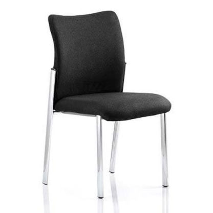 An Image of Academy Fabric Back Visitor Chair In Black No Arms