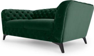 An Image of Sloan 2 Seater Sofa, Pine Green Velvet