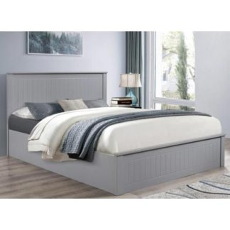 An Image of Fairmont Ottoman Wooden King Size Bed In Grey