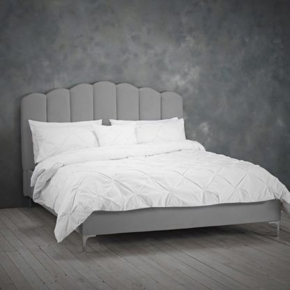 An Image of Willow Sumptuous Velvet King Size Bed In Silver