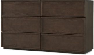 An Image of Langdon Wide Chest of Drawers, Walnut
