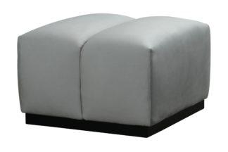 An Image of Herbie Footstool - Dove Grey