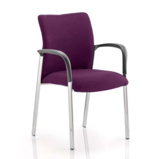An Image of Academy Fabric Back Visitor Chair In Tansy Purple With Arms