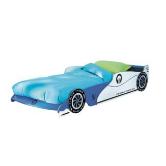 An Image of Italic Boys Childrens Car Bed In Blue