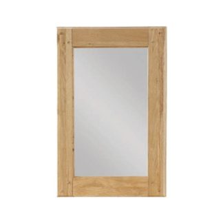 An Image of Heaton Bedroom Mirror With Oak Frame