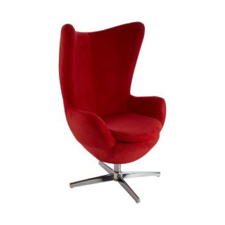 An Image of Milden Novelty Chair Revolving In Red With Chrome Base