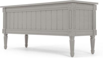 An Image of Bourbon Vintage Ottoman Bench, Grey