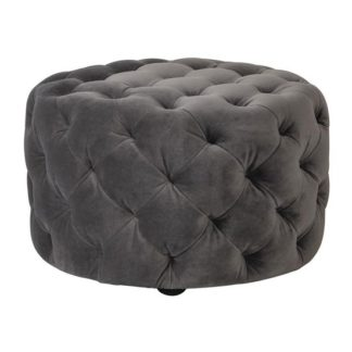 An Image of Sergio Mirage Velvet Footstool