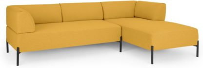 An Image of MADE Essentials Kiva Right Hand Facing Chaise End Corner Sofa, Yolk Yellow