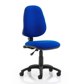 An Image of Eclipse Plus I Office Chair In Blue No Arms