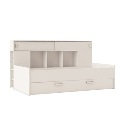 An Image of Solar Contemporary Childrens Bed In Matt White