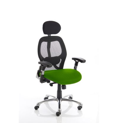 An Image of Coleen Home Office Chair In Green With Castors