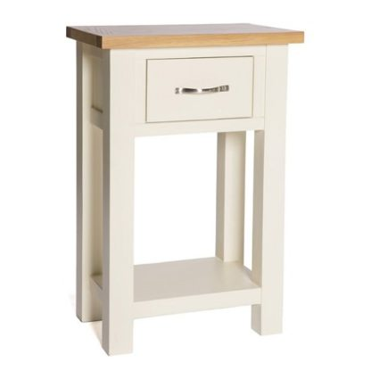 An Image of Lexington Wooden Console Table In Ivory With 1 Drawer