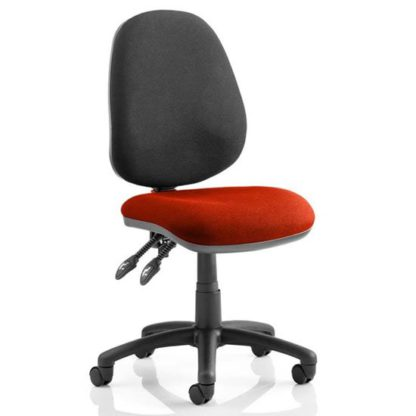 An Image of Luna II Black Back Office Chair In Ginseng Chilli