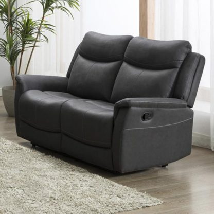 An Image of Arizona Fabric 2 Seater Electric Recliner Sofa In Slate
