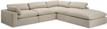 An Image of Samona Right Hand Facing Full Corner Sofa, Natural Cotton & Linen Mix
