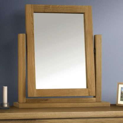 An Image of Marlborough Dressing Table Mirror With Waxed Oak Frame