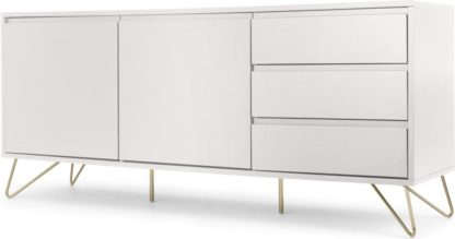 An Image of Elona Sideboard, Ivory White & Brass