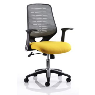 An Image of Sprint Airmesh Office Chair YEL