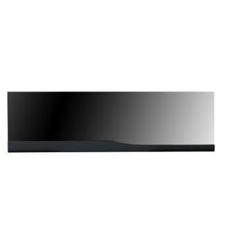 An Image of Merida Wall Mirror Rectangular In Black High Gloss