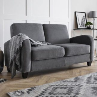 An Image of Coghill Two Seater Fabric Sofa In Dusk Grey Chenille