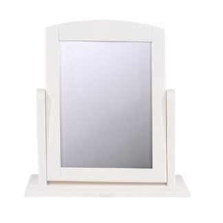 An Image of Caithness Single Dressing Mirror With White Frame