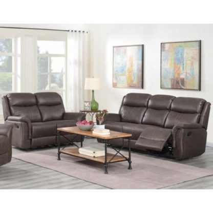 An Image of Proxima 3 Seater Sofa And 2 Seater Sofa Suite In Rustic Brown