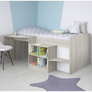 An Image of Feltner Contemporary Cabin Bed In Elm