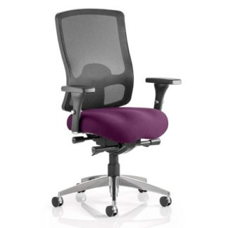 An Image of Regent Office Chair With Tansy Purple Seat And Arms