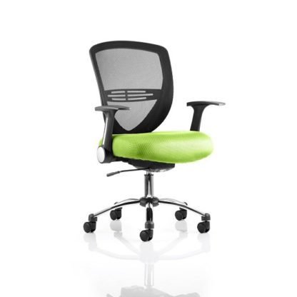 An Image of Avram Home Office Chair In Green With Castors