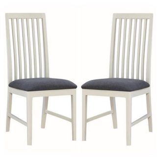 An Image of Trimble Wooden Dining Chair In Spanish White Painted