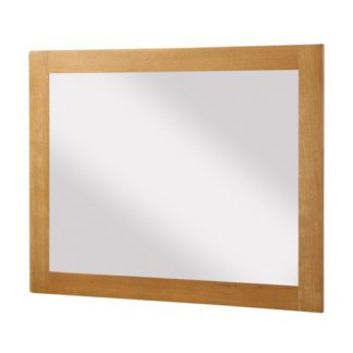An Image of Acorn Large Bedroom Mirror In Light Oak Wooden Frame