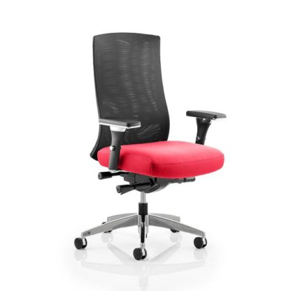 An Image of Scarlet Home Office Chair In Cherry With Castors