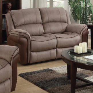 An Image of Lerna Fusion Fabric 2 Seater Sofa In Taupe And Tan