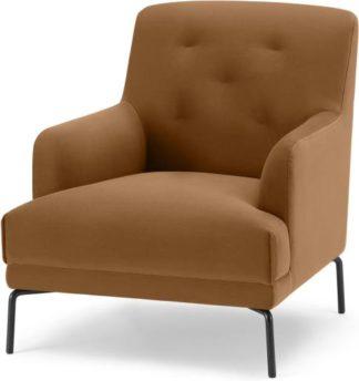 An Image of Attwood Armchair, Golden Amber Velvet