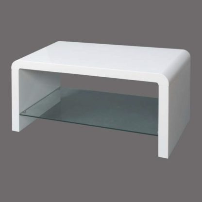 An Image of Norset Modern Coffee Table Rectangular In White Gloss