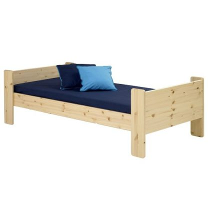 An Image of Pathos Wooden Single Bed In Pine