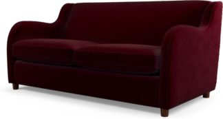 An Image of Custom MADE Helena Sofabed with Memory Foam Mattress, Plush Burgundy Velvet