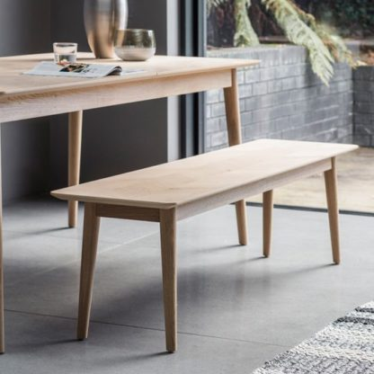 An Image of Milano Wooden Dining Bench In Matt Lacquer