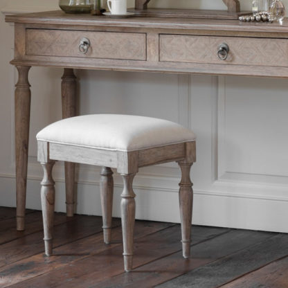 An Image of Mustique Mindy Ash Wooden Dressing Stool